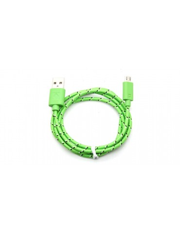 Micro-USB Male to USB Male Braided Data Cable