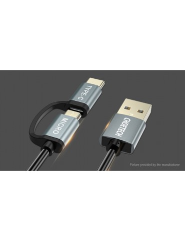 Authentic CHOETECH USB-C/Micro-USB to USB 2.0 Data & Charging Cable (120cm)