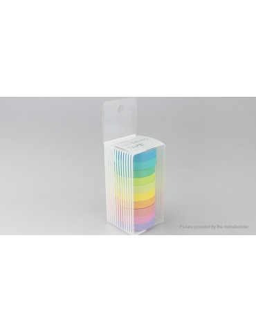 DIY Rainbow Washi Paper Sticker Masking Adhesive Tape (7.5mm*5m/10-Pack)