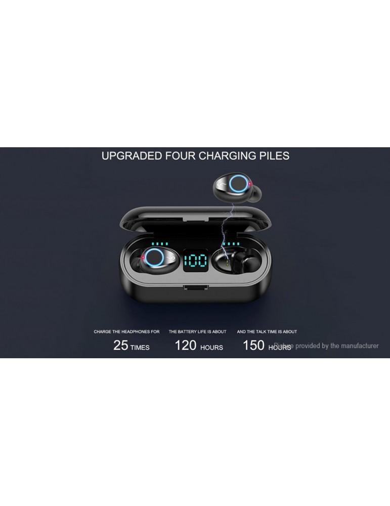 F9 TWS Bluetooth V5.0 Sports HiFi Stereo Earbuds Headset