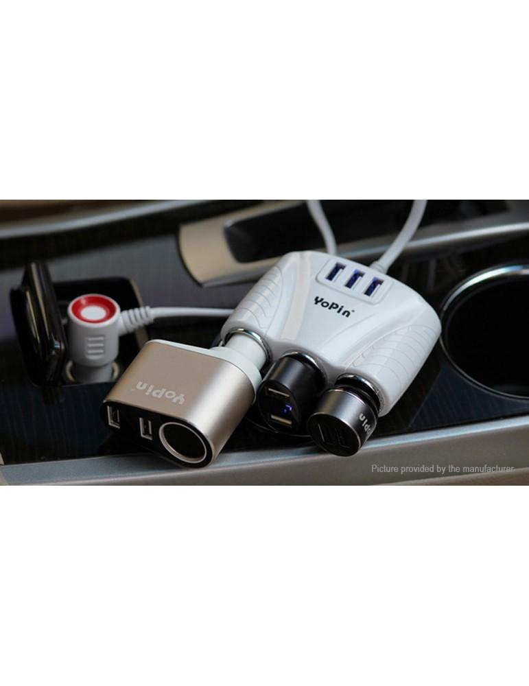 YoPin CC-029 3-Port USB Car Cigarette Lighter Charger Power Adapter
