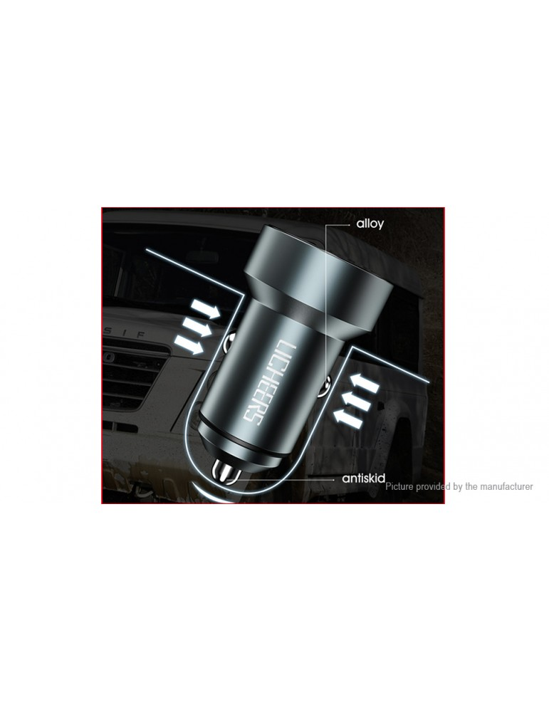 LICHEERS YC-C30 Dual USB Car Charger Power Adapter