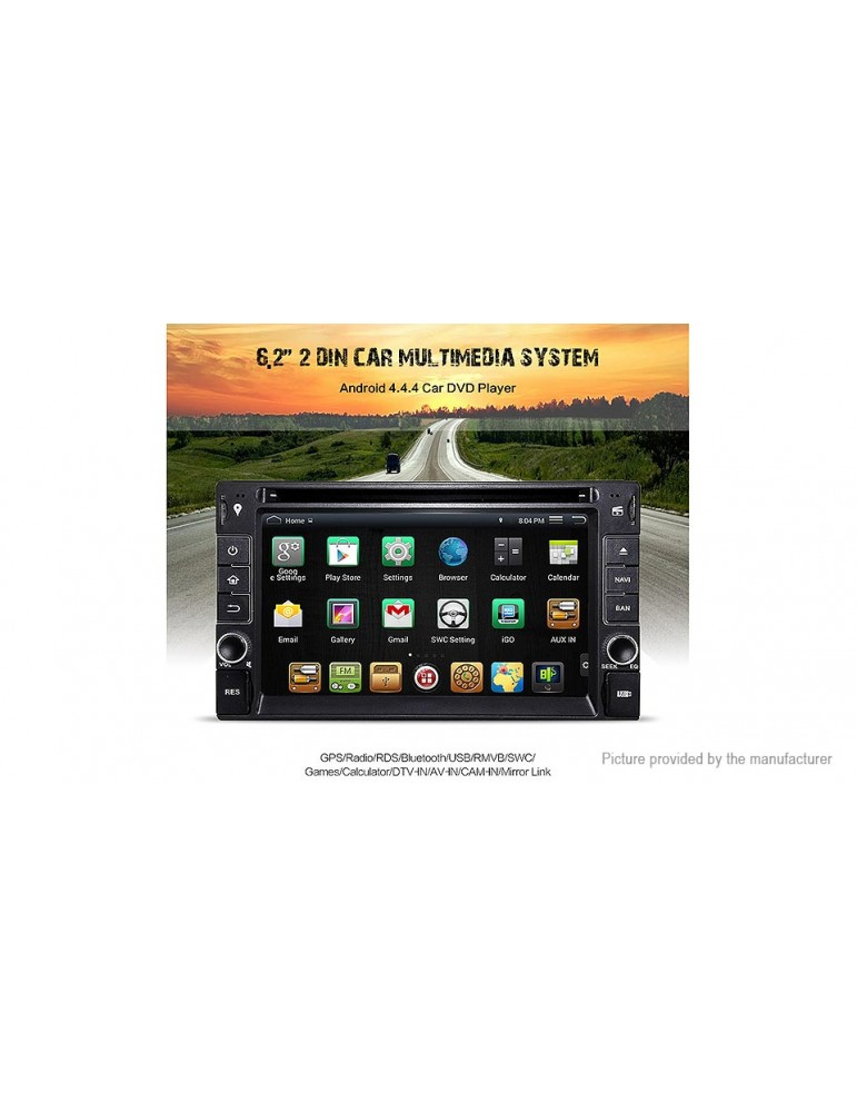"""DR6533 Universal 6.2"""" Android 4.4 2-Din Car DVD Player GPS Navigation"""