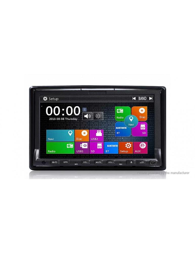 "DJ7019 Universal 7"" Windows CE 2-Din Car DVD Player GPS Navigation"